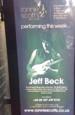 Jeff Beck -keikan mainos Lontoossa